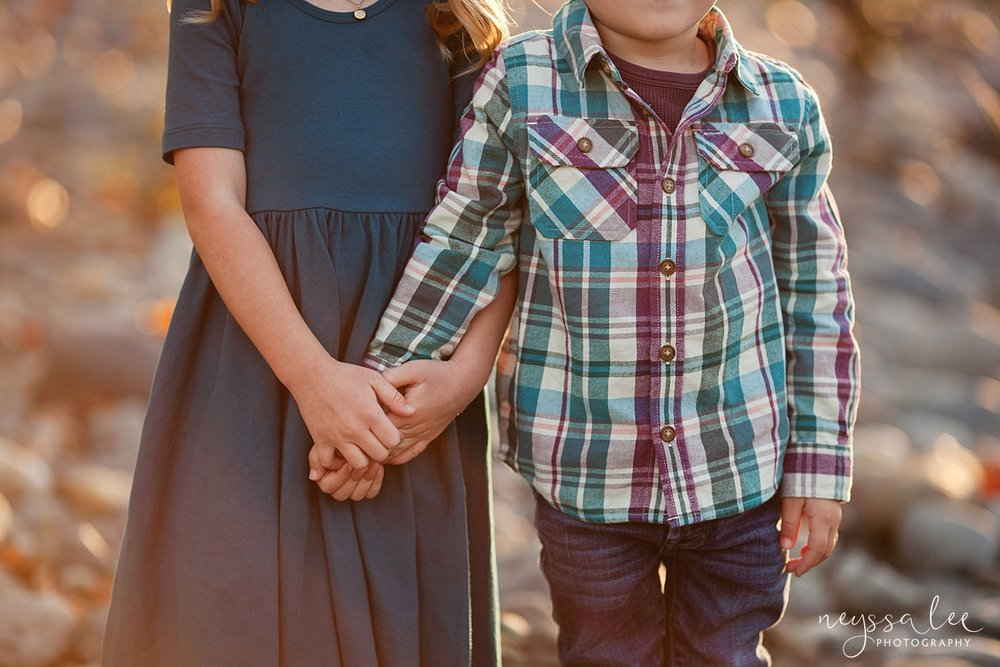 Snoqualmie Family Photographer, Neyssa Lee Photography, Family of 5, siblings holding hands