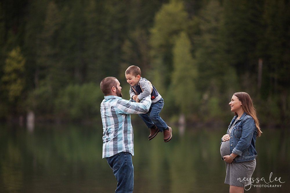 5 Tips to Prepare for Your Family Photo Session, Neyssa Lee Photography, Issaquah Family Photographer, Dad spinning with son
