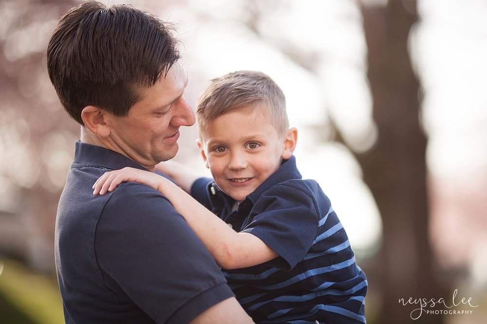 Family Photos by the River at Sunset, Neyssa Lee Photography, Snoqualmie Family Photography, Father and Son