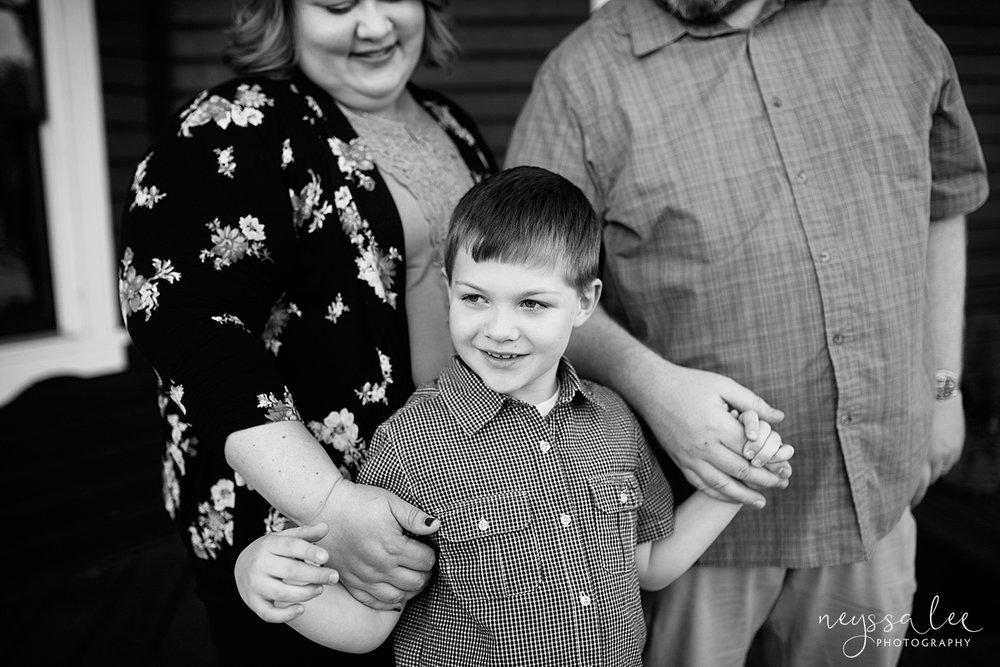 Photos for a 10 year anniversary, Snoqualmie Family Photography, Neyssa Lee Photography, Snoqualmie Train Station, Boy Holds Moms hands