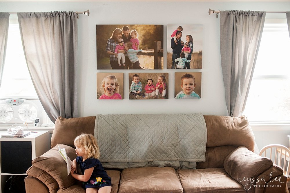 5 Ways to Use Your Family Photos, Canvas Wall Display above a couch