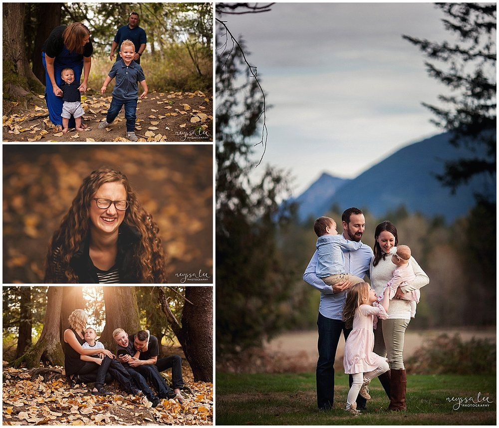 Favorite Locations for Fall Family Photos around Seattle, Neyssa Lee Photography, Snoqualmie Family Photographer,  Fall Color, Leaves