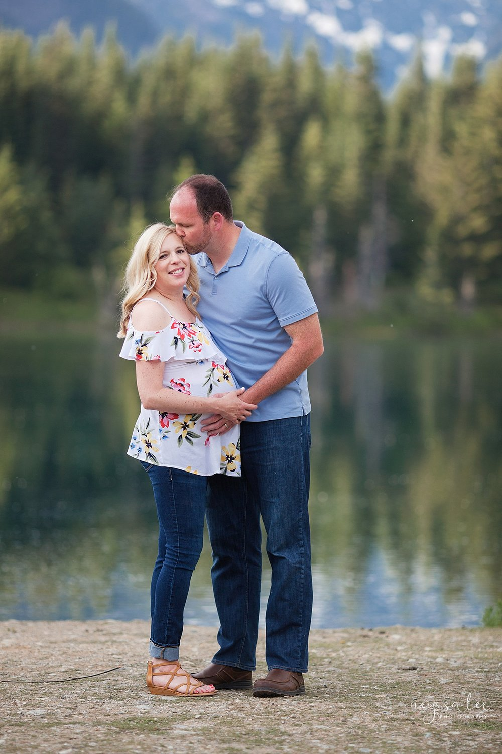 Maternity Photos in the Mountains, Gold Creek Pond, Neyssa Lee Photography, Snoqualmie Family Photographer, mom and dad