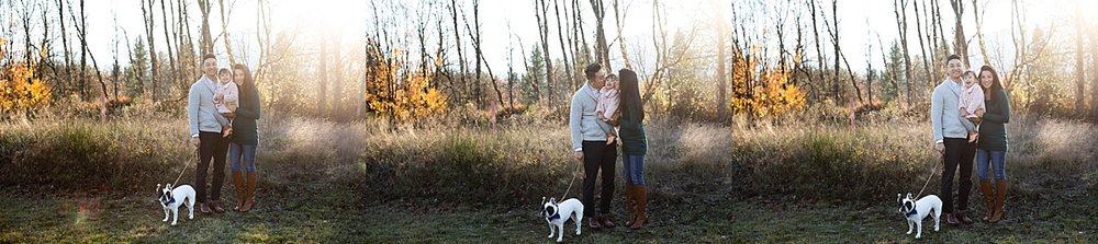 Neyssa Lee Photography, Seattle Lifestyle Family Photographer,  Photos of Mom and dad holding toddler girl with french bulldog