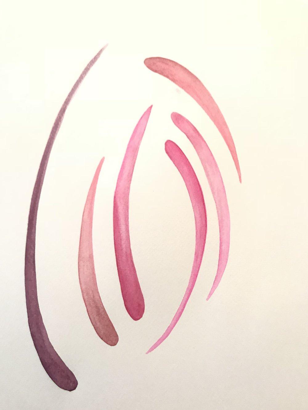 watercolor swipes