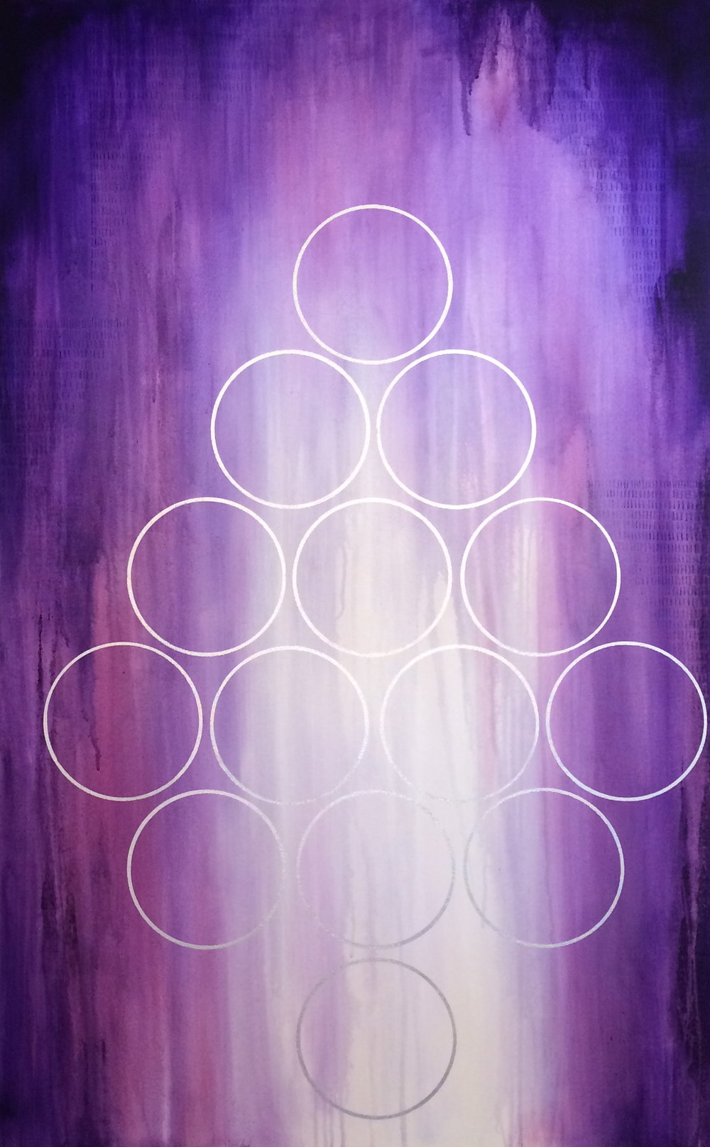 "Purple Rain 48""x30"" on sale for $475"