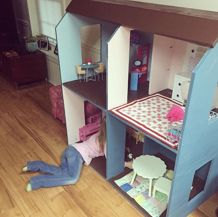 She Absolutely Loves Playing With Her Dolls Everyday In Her House. Abigail  Is Requesting A Front Door And Stairs, ...