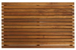 Zen Shower Mat in Solid Teak Wood