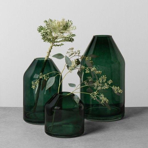 Glass Jug Vase - Green