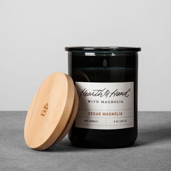 Lidded Jar Container Candle 8oz - Cedar Magnolia