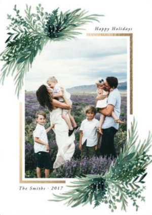 wonderfully merry eve foil pressed holiday cards - Holiday Cards 2017