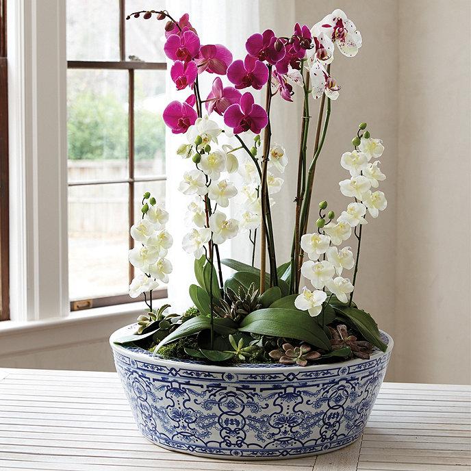 Blue & White Chinoiserie Planter
