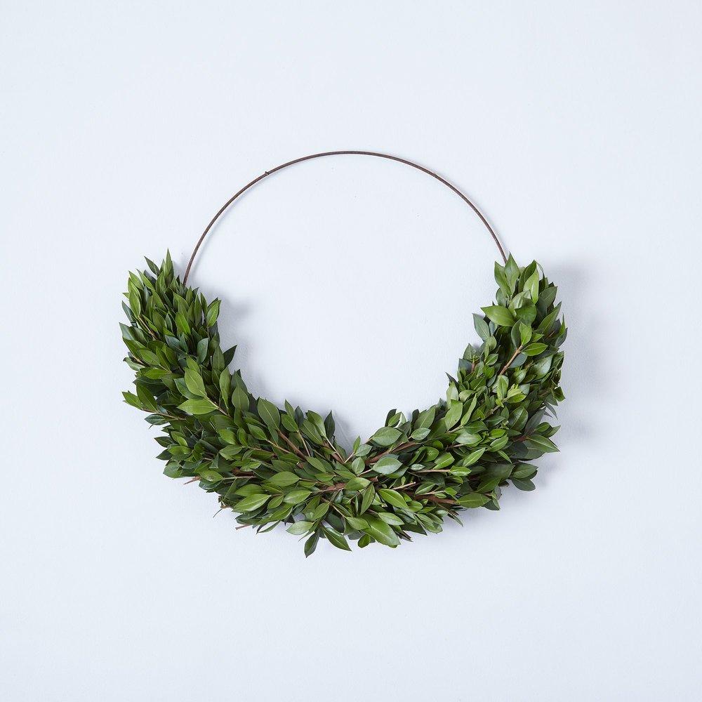 Boxwood & Mrytle Half Wreath