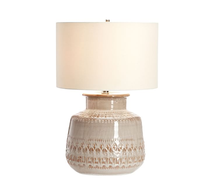 Jamie Young Emma Ceramic Round Table Lamp