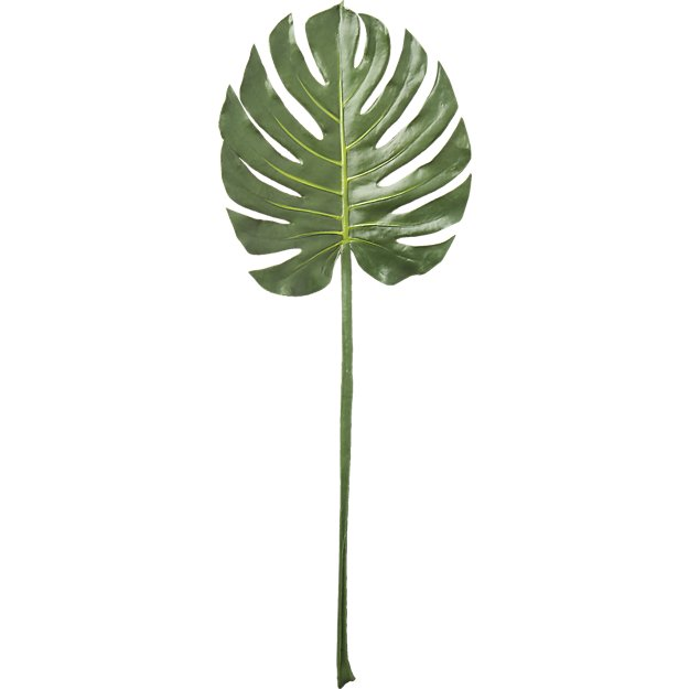 Faux Monstera Leaf