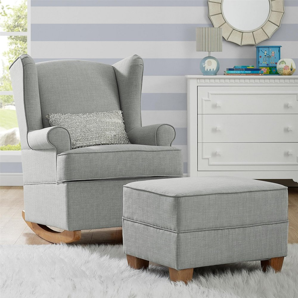 Brennan Wingback Convertible Rocker
