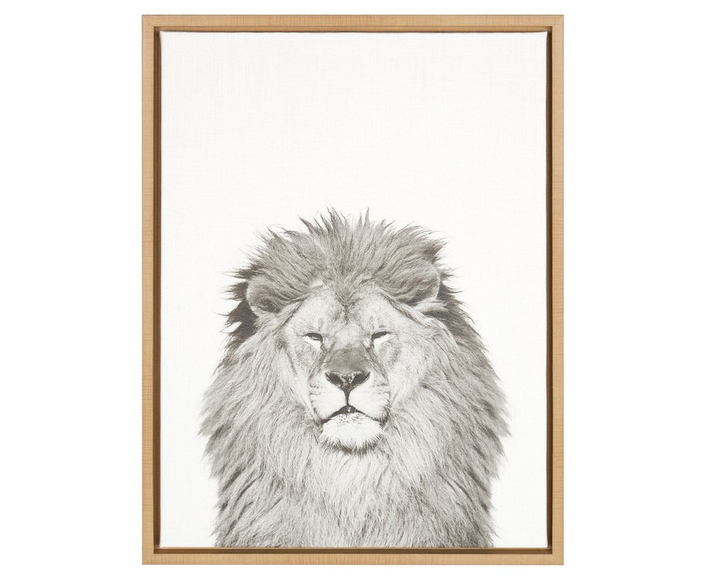 Lion Framed Canvas Art - Uniek