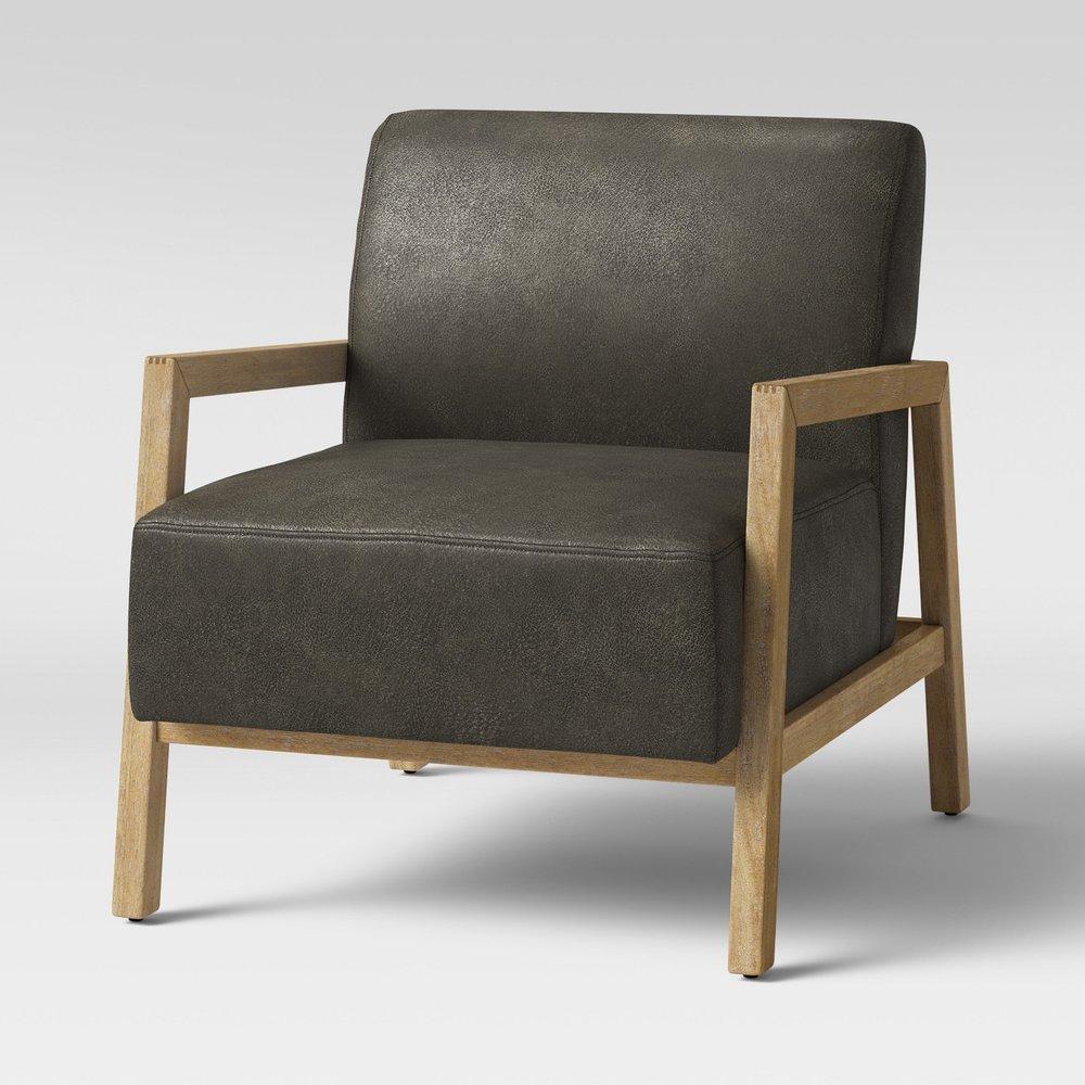 Bedford Rustic Wood Arm Chair