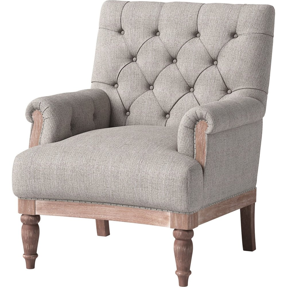 Alford Rolled Arm Tufted Chair