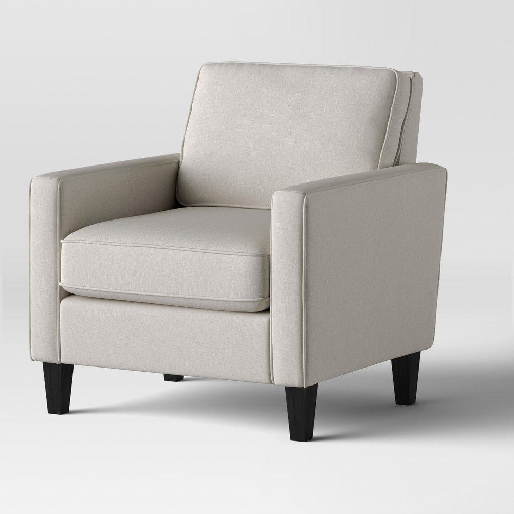Elmhurst Modern Loose Back Cushion Chair Beige