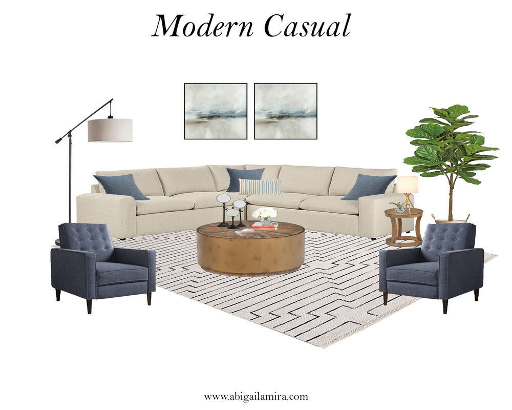 Get The Look: Modern Casual Living Room