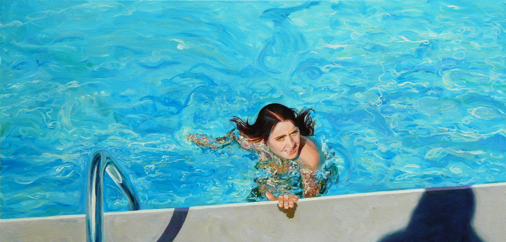 """Emilia""  Oil on Canvas 40""x20"""