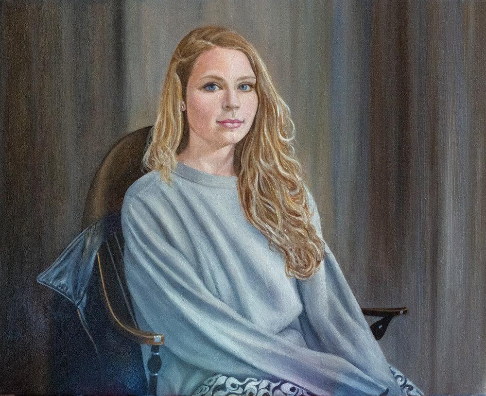 """Zoe"" Oil on Canvas 24""x20"""