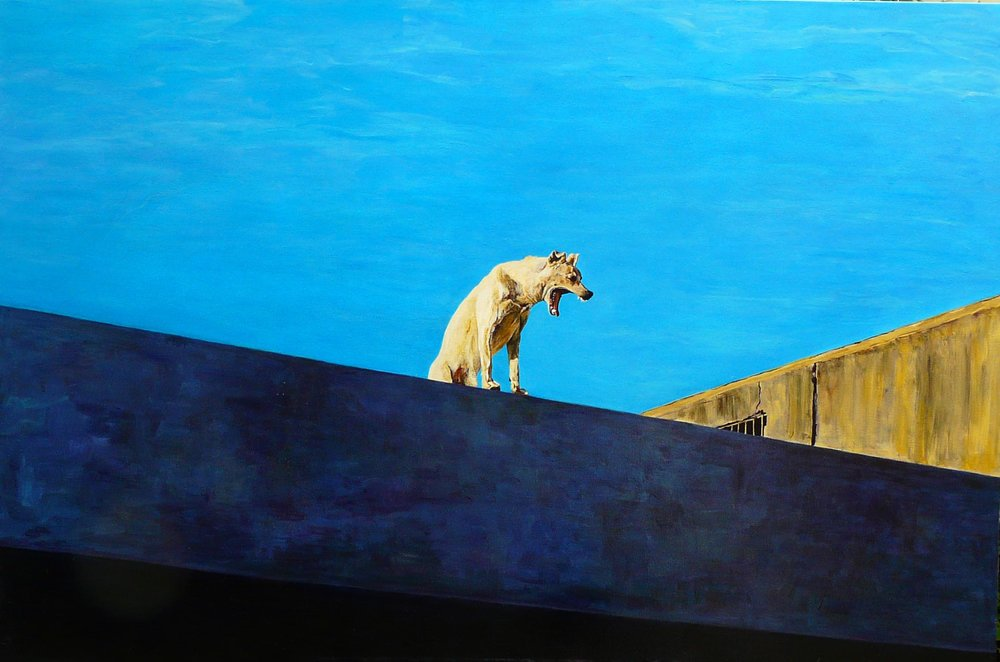 """Dog"" Oil on Canvas 60""x40"""