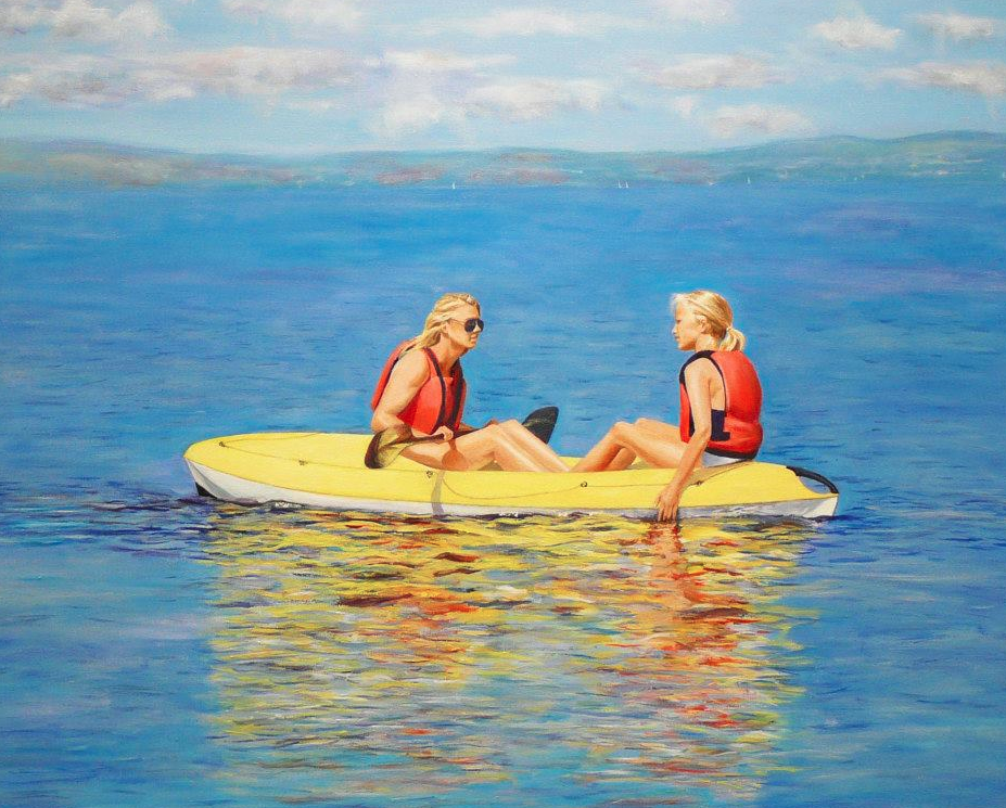 """Antonia&Georgia"" Oil on Canvas 24""x20"""