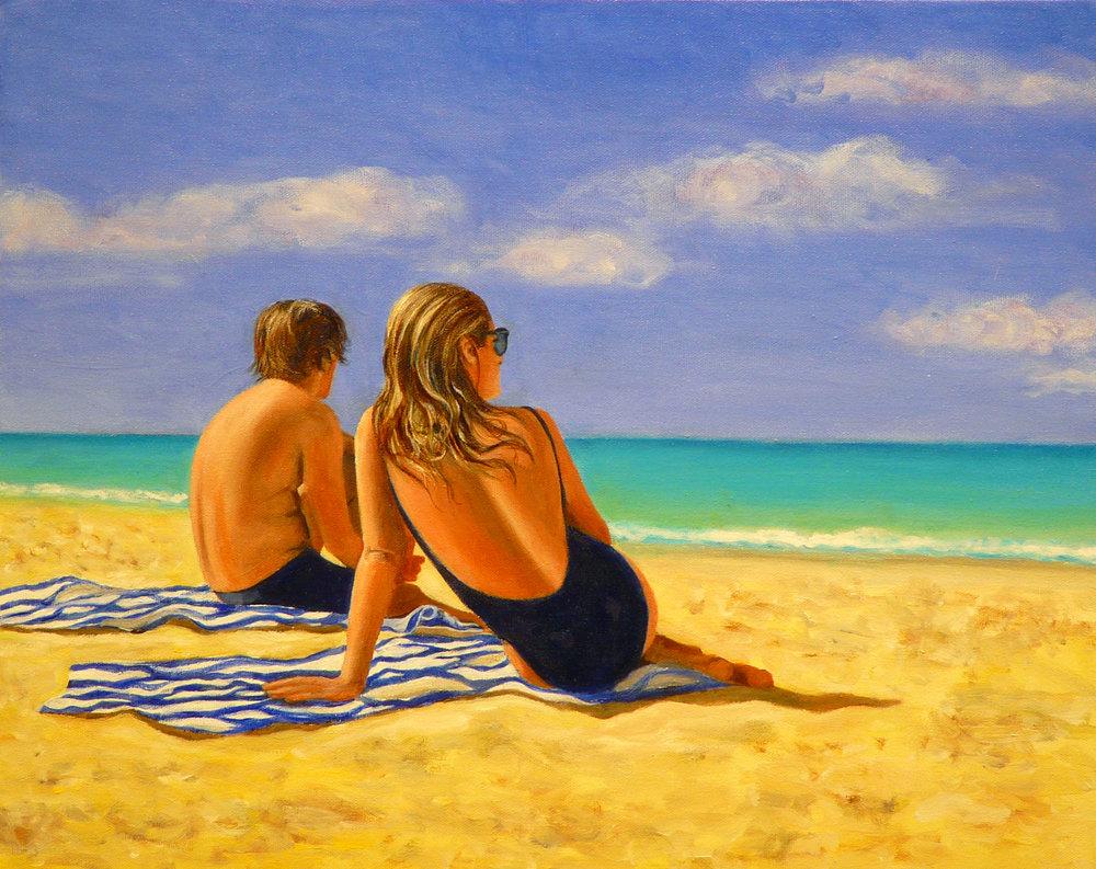"""Emilia&Jeff"" Oil on Canvas 20""x16"""