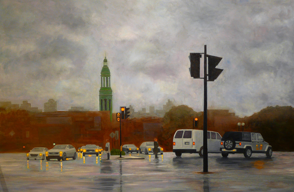 """Atwater Rain"" Oil on Canvas 60""x40"""