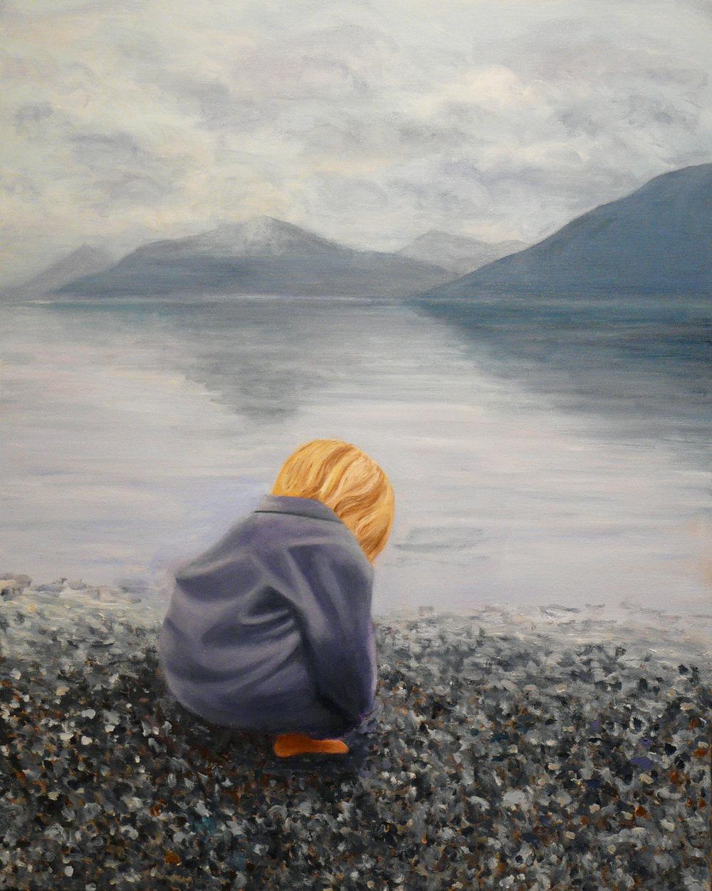 """""""Beach Boy"""" Oil on Canvas 24""""x30"""""""