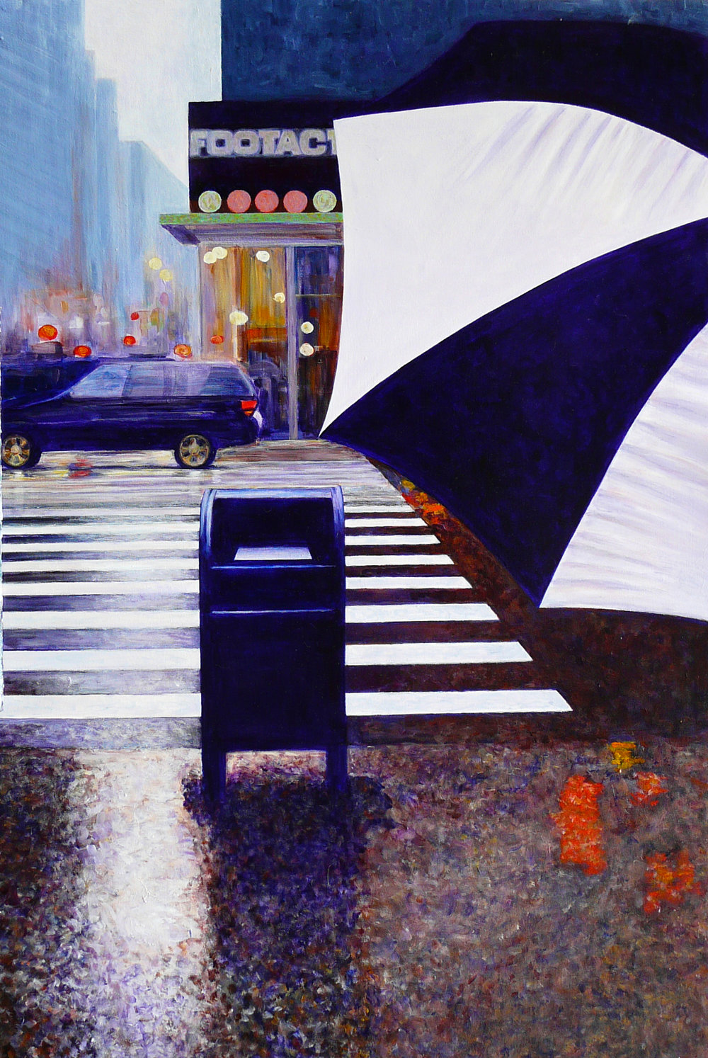 """Umbrella"" Acrylic on Canvas 40""x60"""