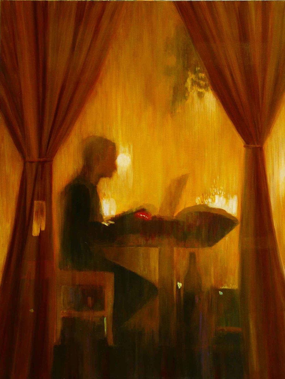 """""""Café Esperanza"""" Acrylic on Canvas 36""""x48"""""""