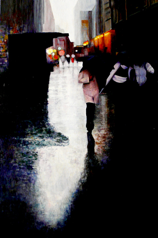 """NYNY"" Oil on Canvas 40""x60"""