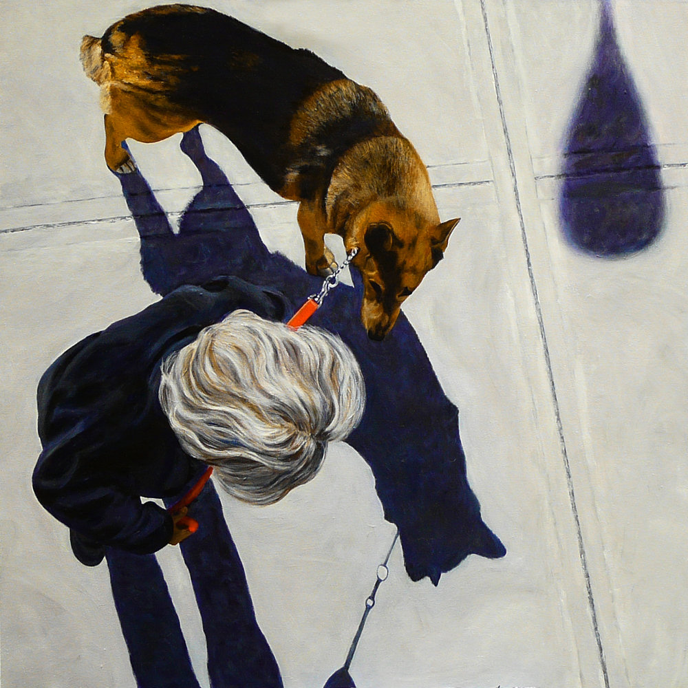 """Jo&Dog"" Acrylic on Canvas 40""x48"""