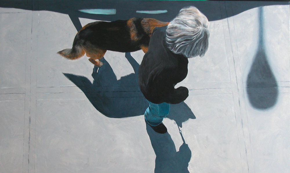 """Jo&Dog9"" Acrylic on Canvas 60""x40"""