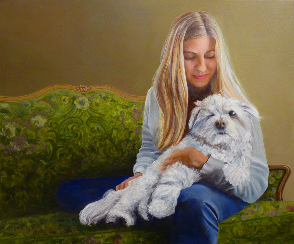 """Malika&Pico"" Oil on Canvas 30""x24"""