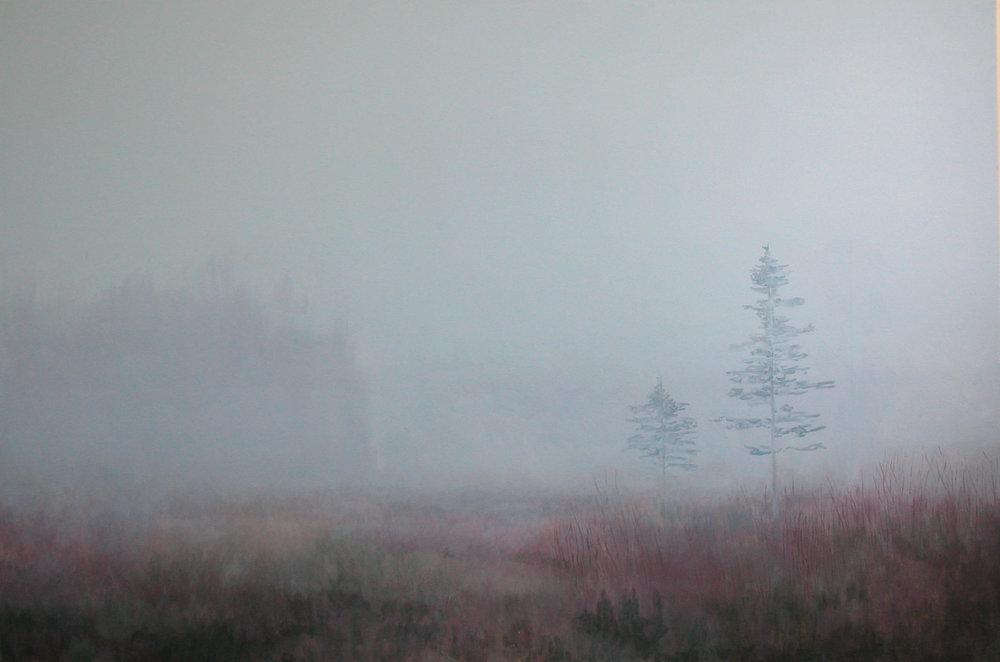 """Mist&Forest Acylic on Canvas 60""""x40"""""""