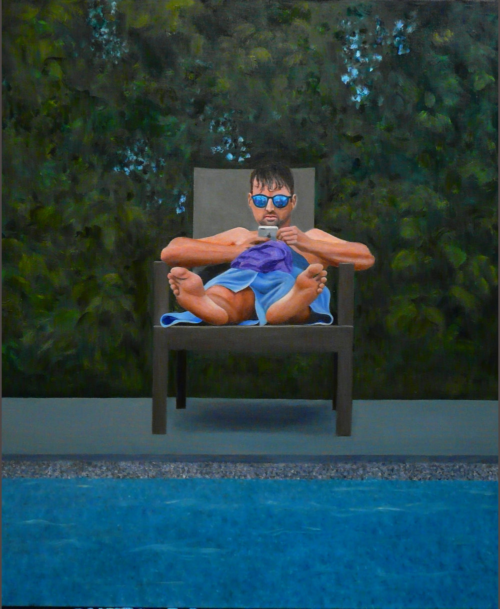 """""""Robb"""" Oil on Canvas 30'x36"""""""