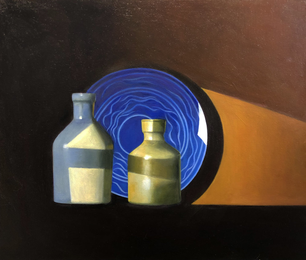 "'Sun & Vases""  Oil on Canvas  24""x20"""