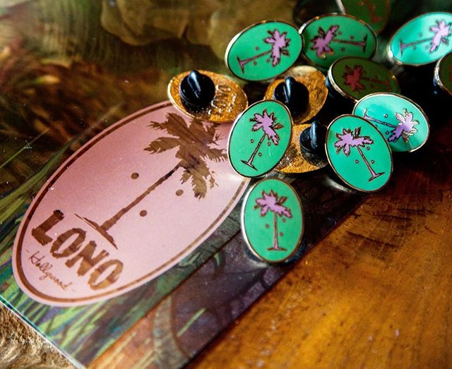 LONO tiki club pins available for purchase in our tropical den!! Book a table, buy a pin and a side of Piña coladas- you deserve it🌴 #mood #lonohollywood