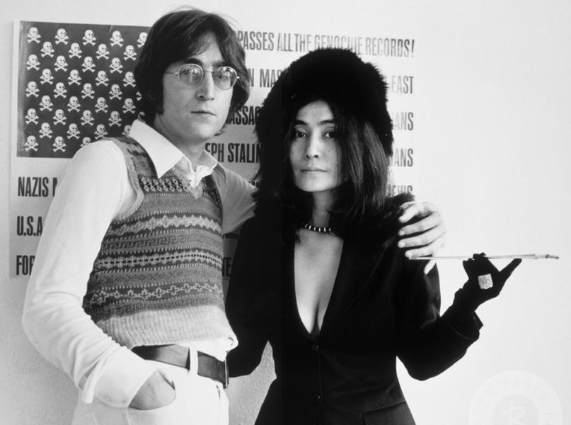 Yoko Ono and her husband John Lennon