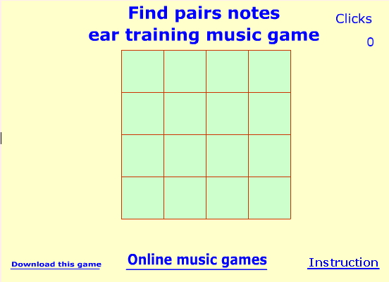 Mr. Nadel's best score on this ears-only concentration game is 31 clicks. Can you do better??