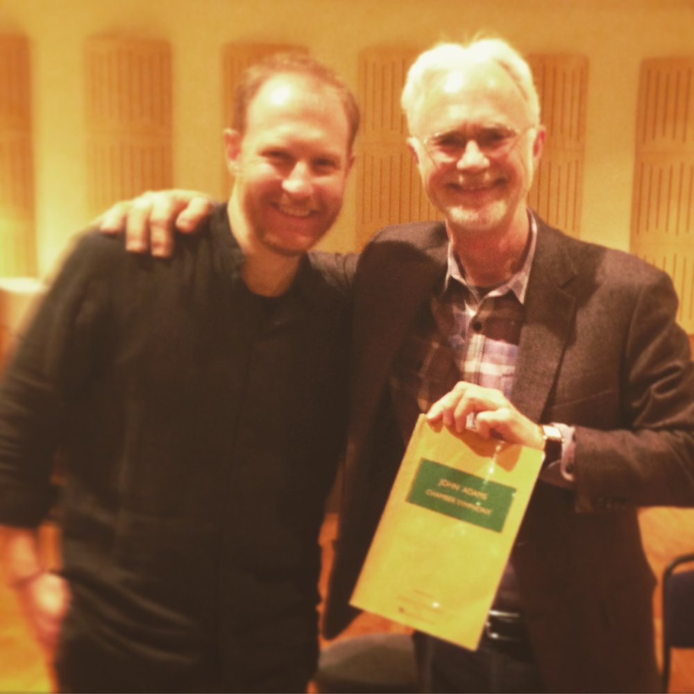 Working with John Adams composer at Konzerthaus Wien