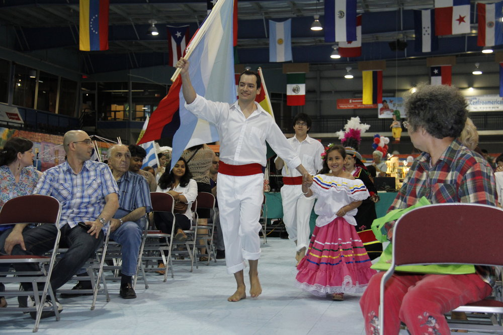 Opening Ceremonies, Latin American Flag Dance 2012