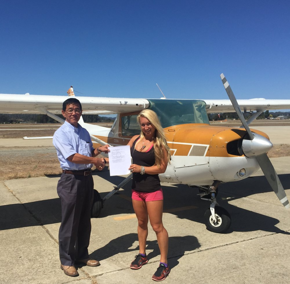 The day I earned my private pilot license! Labor Day, 2015.