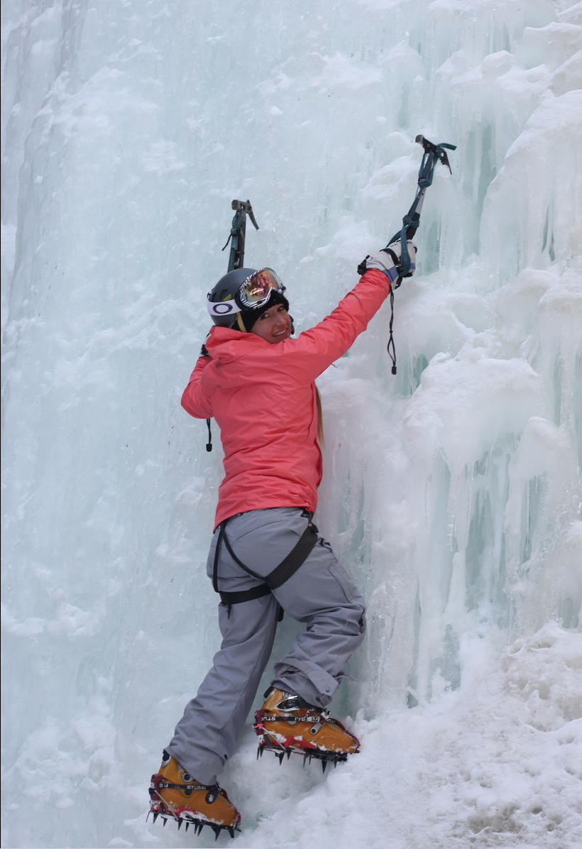 Ice climbing somewhere in the Wrangell St Elias Mountains, Alaska, via airplane.