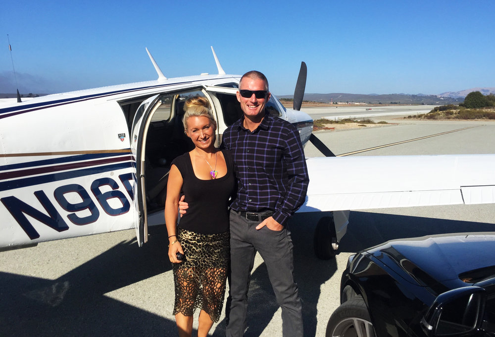 My handsome man and I going on a date via the bonanza.