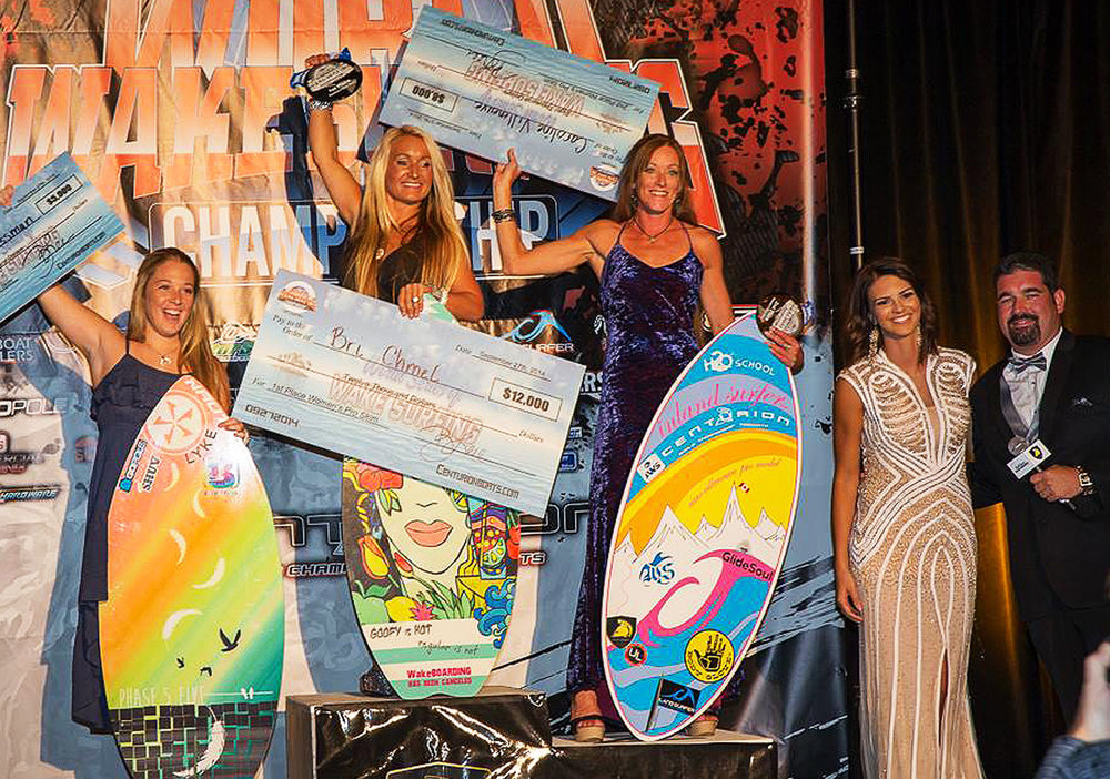 2014 Women's World Wakesurfing Champion! Las Vegas, NV.